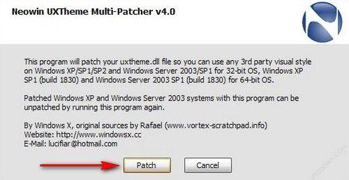 Programma cambia tema per XP