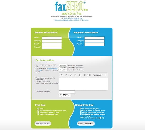 Come mandare fax via Internet gratis
