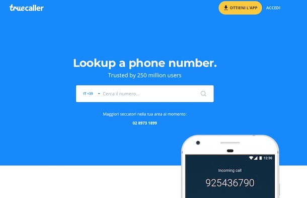 Informazioni su numeri telefonici