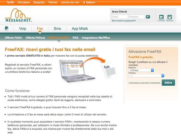 Come ricevere un fax tramite email