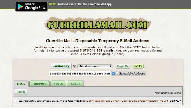 Come creare email temporanee