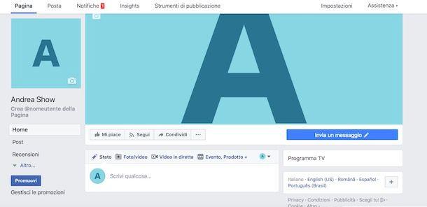 Creare una Web TV su Facebook