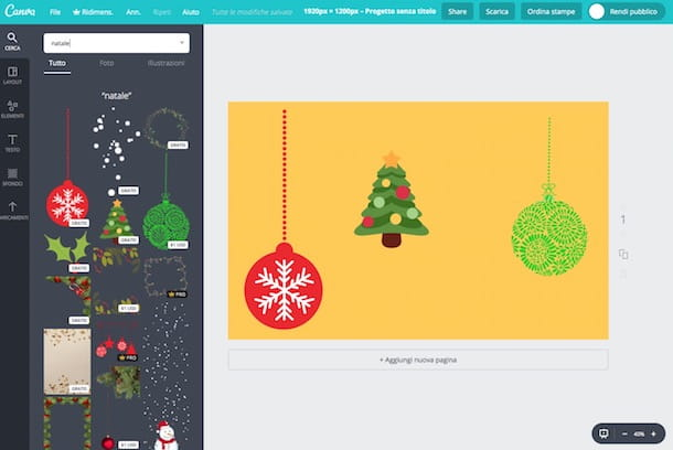 Come creare uno sfondo natalizio