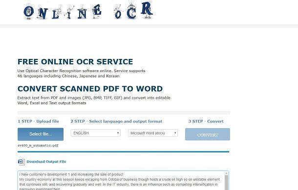 programma per modificare documenti scannerizzati