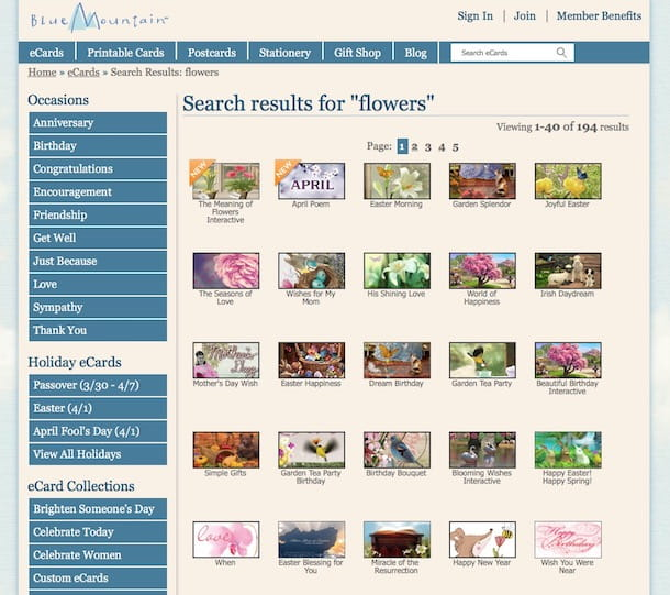 Inviare fiori virtuali via e-mail