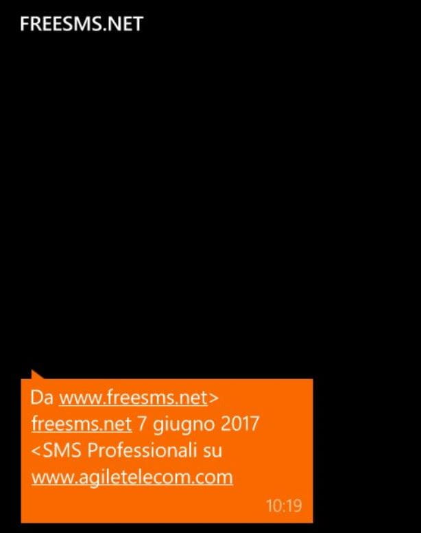 SMS GRATIS DA INTERNET
