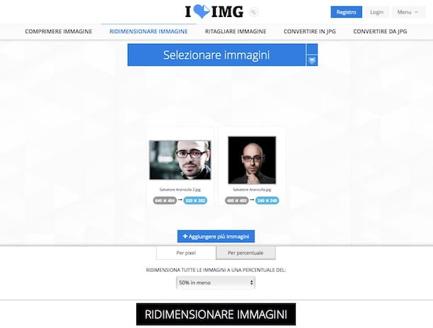 Come ridimensionare le foto digitali