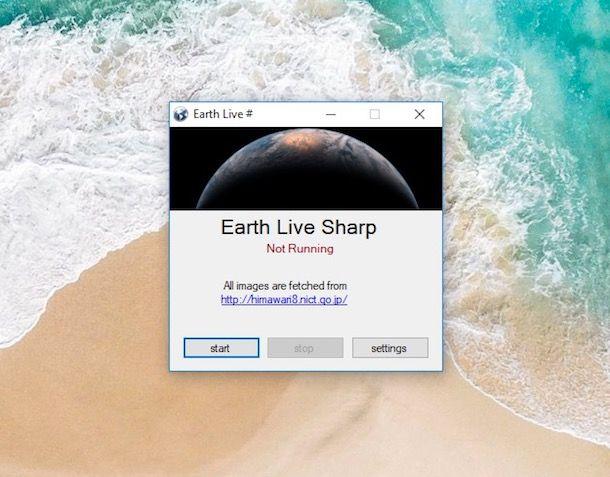 Immagini in tempo reale dal satellite come sfondo