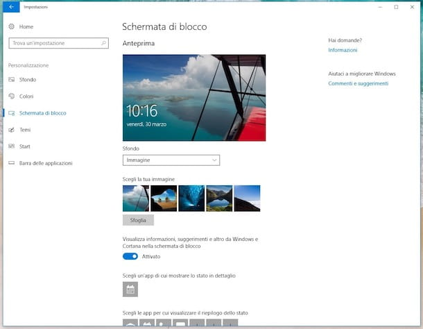 Cambiare schermata di accesso Windows