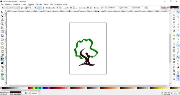 Logo albero disegnato con Inkscape
