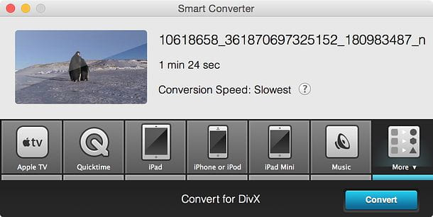 Convertire MP4 in AVI Mac