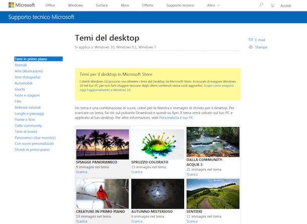 Come installare temi su Windows 7