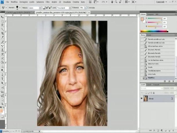 Come invecchiare un volto in una foto