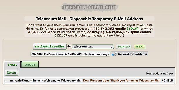 Email temporanee gratuite e senza registrazione