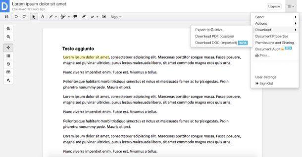 Come modificare un file PDF