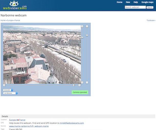 Webcam in diretta