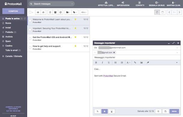 Come criptare email