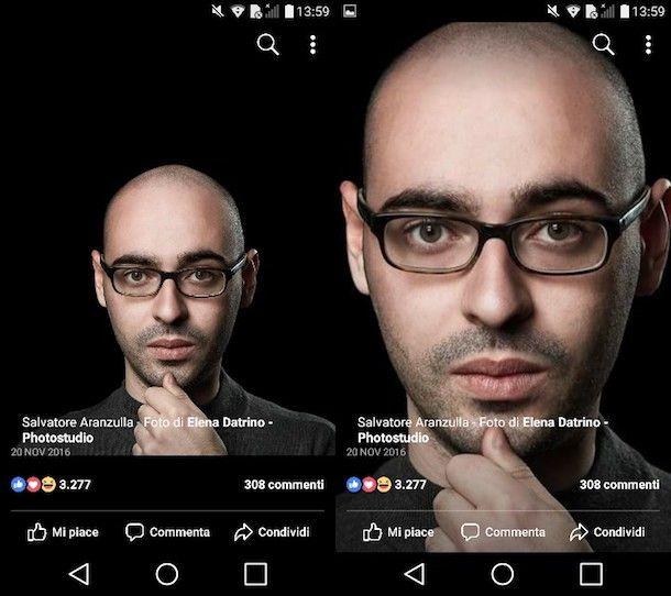 db6d8820c6d62c Per ingrandire una foto postata su Facebook dal tuo dispositivo Android,  avvia su quest'ultimo l'app ufficiale del social network, effettua il login  al tuo ...