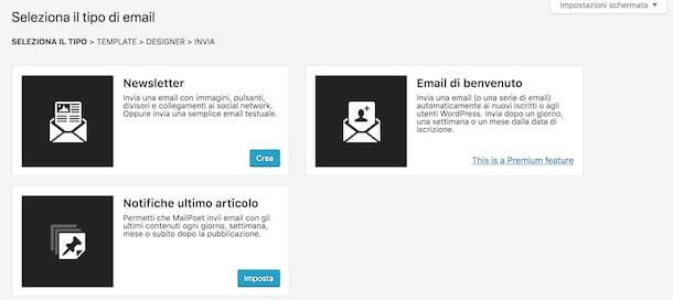 Invio newsletter con WordPress