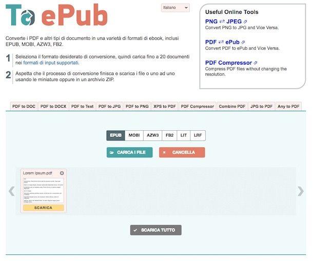 Come creare ePub da PDF