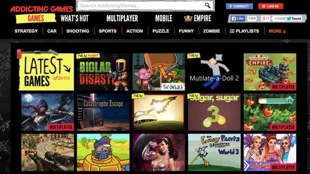 Giochi gratis online in Flash