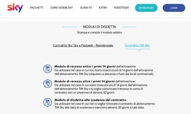 MODELLO DISDETTA SINDACATO SCARICARE