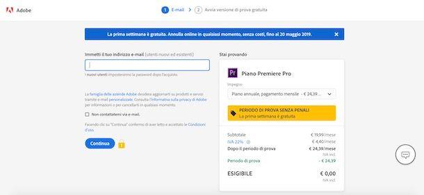 Prova Adobe Premier