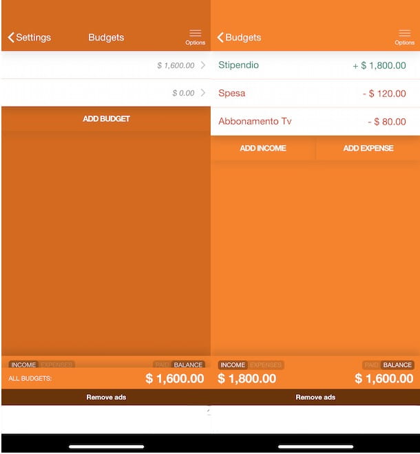 App per fare bilancio familiare