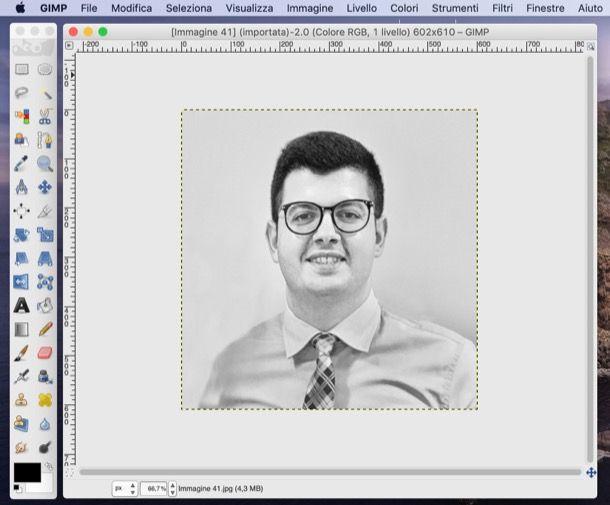 Bianco e nero con GIMP