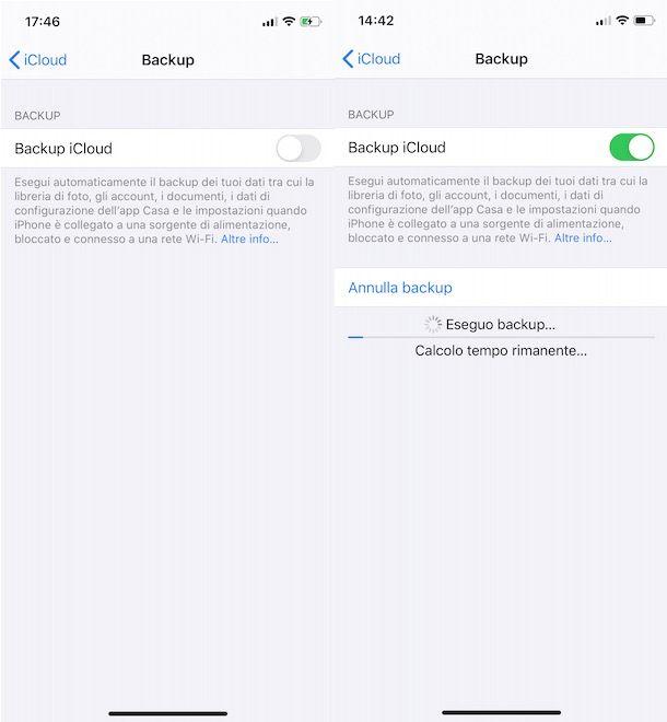 Come effettuare backup iPhone
