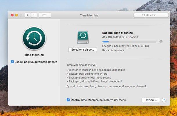 Come effettuare backup Mac