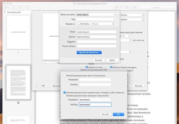 Anteprima password PDF