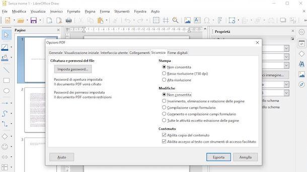 LibreOffice password PDF