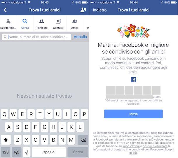 Come cercare persone su Facebook