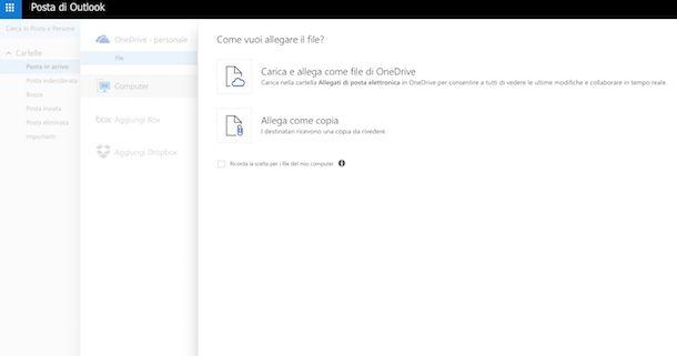 Come inviare grandi file via email