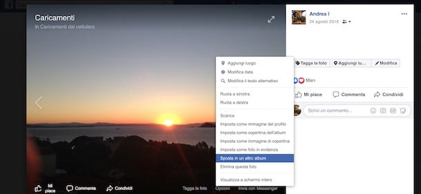 Come creare album su Facebook con foto già caricate