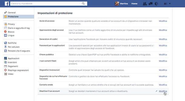 Come cancellarsi da Facebook momentaneamente