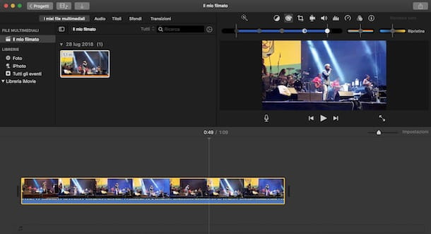 imovie editing video