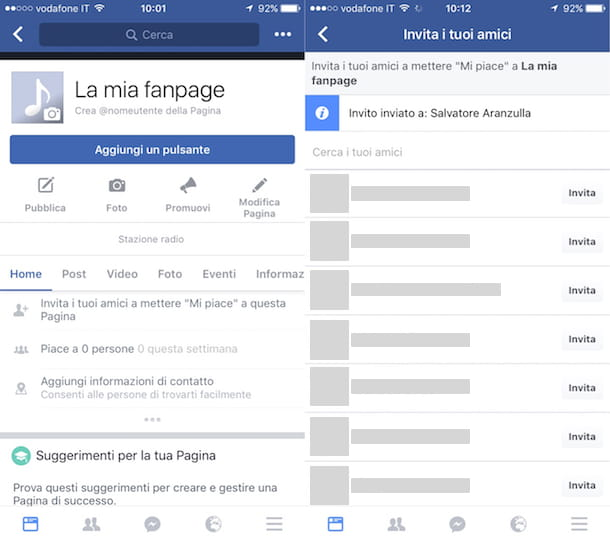 Come suggerire una pagina su Facebook