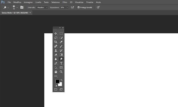 Barra degli strumenti di Photoshop