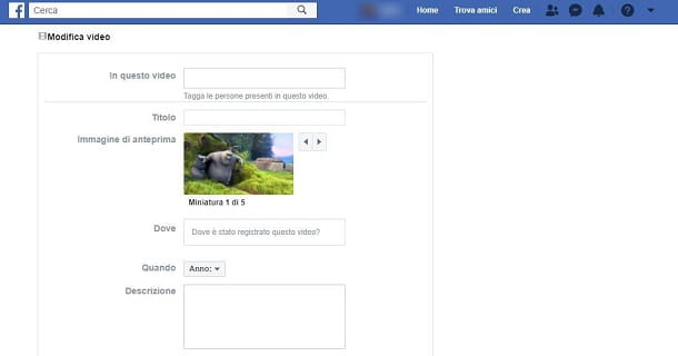 Come aggiungere un tag a un video su Facebook da PC