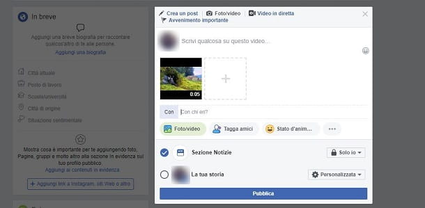 Come taggare un video su Facebook da PC