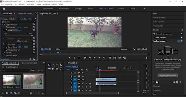 Come zoomare video con Premier