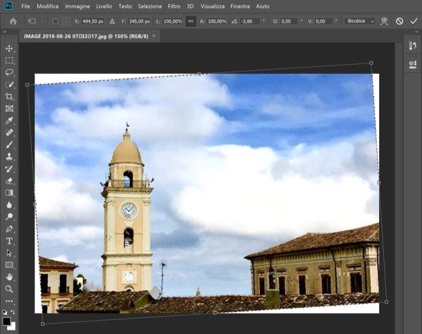 Raddrizzare una foto con Photoshop