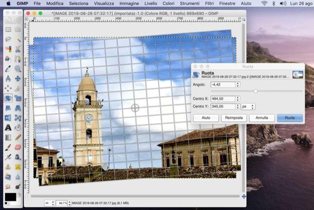 Strumento ruota di GIMP
