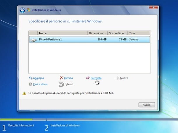 Come installare Windows 7 su Vista