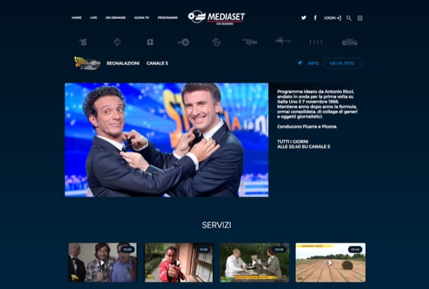 da video mediaset senza silverlight