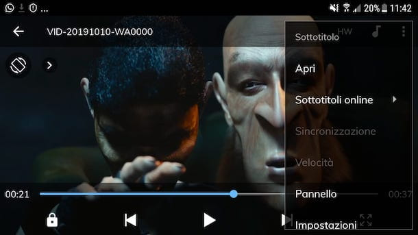 Sottotitoli MX Player