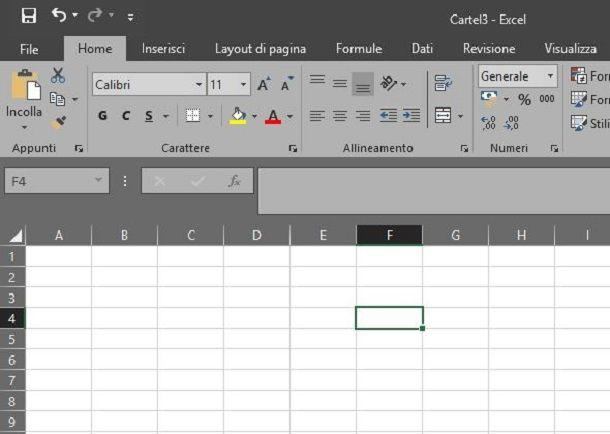 dati estesi in formato xls