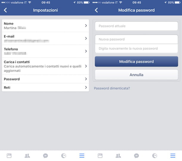 scoprire password di facebook da iphone